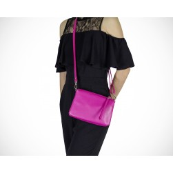 Pochette Evelyn Fuschia