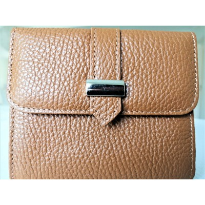 Portefeuilles Milano camel Made in Italy
