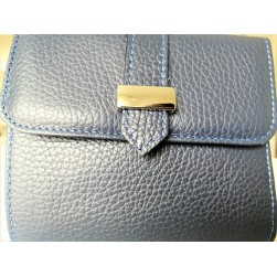 Portefeuilles Milano Blu Navy Made in Italy
