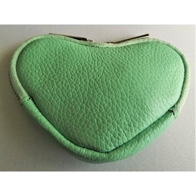 Porte Monnaie Coeur Vert Made in Italy