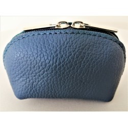 Porte Monnaie Delia Bleu Navy Made in Italy