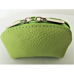 Porte Monnaie Delia Vert Made in Italy