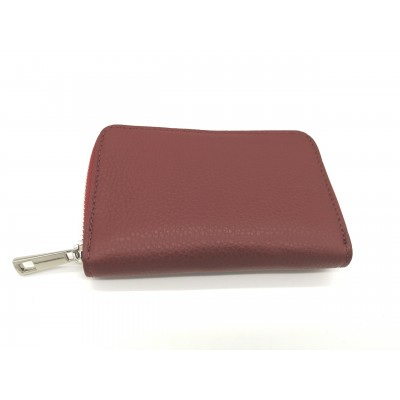 Compagnon Portefeuilles Baby Kate Bordeaux Made in Italy