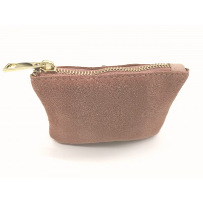 Porte Monnaie Daim Suede nude Made in italy