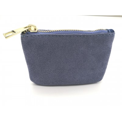 Porte Monnaie Daim Suede Lilas Made in italy
