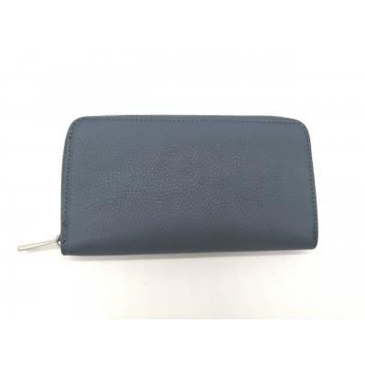 Compagnon Portefeuilles Bleu acier Made in Italy