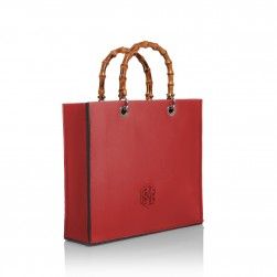 Tote Bag Bamboo Rouge Passion