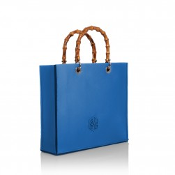 Tote Bag Bamboo Bleu Grèce