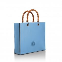 Tote Bag Bamboo Bleu Ciel
